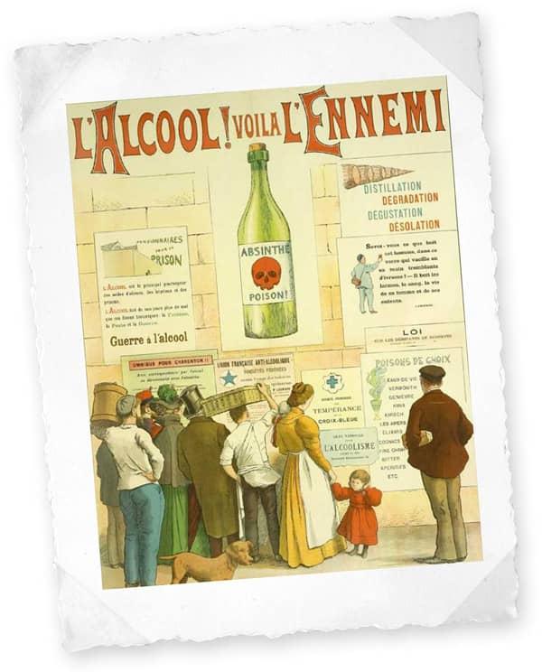 Affiche L'alcool ! Voilà l'ennemi (1910)