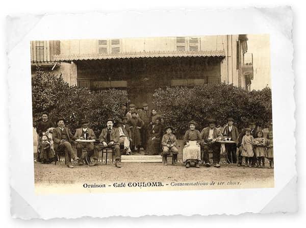 Café Coulomb à Oraison (1900)