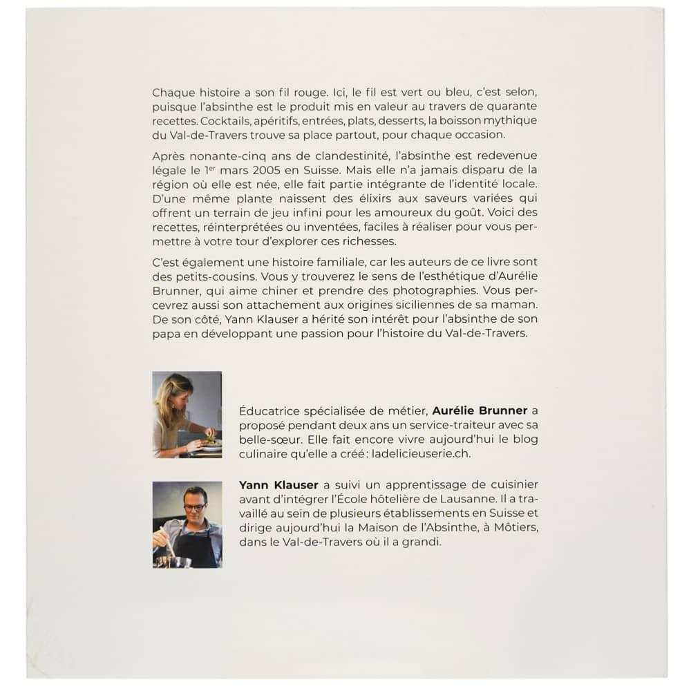 Absinthe : 40 recettes à la Fée verte, d'Aurélie Brunner et Yann Klauser