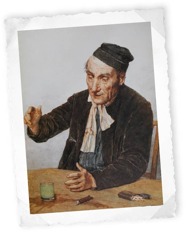 Der Absinth-Trinker (1908), Albert Anker