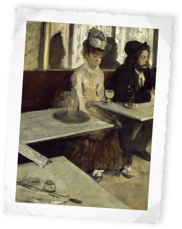 Dans un café (L'absinthe), Edgar Degas, 1873