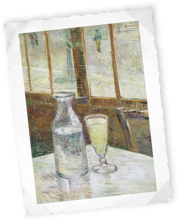 Stillleben mit Absinth, Vincent Van Gogh, 1887