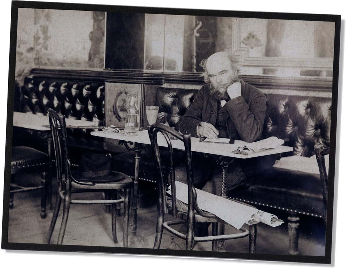 Paul Verlaine vor einem Glas Absinth (1892)