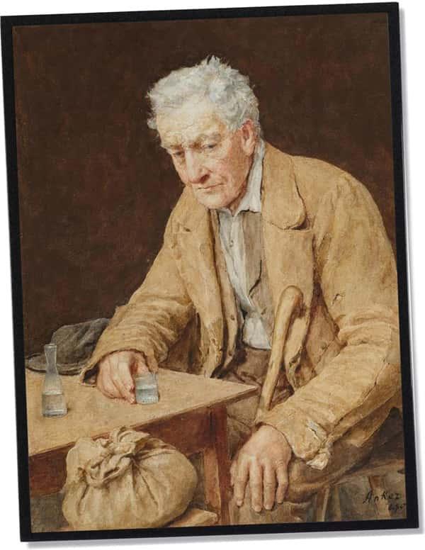 Der Absinthtrinker, Albert Anker (1907)