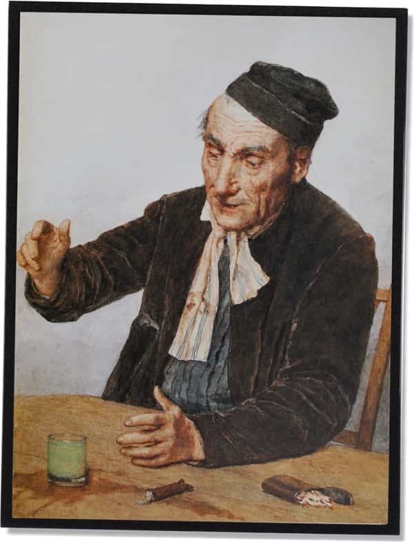 Der Absinth-Trinker, Albert Anker (1908)