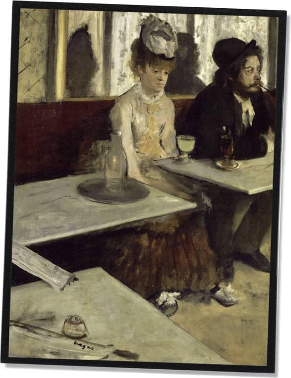 In einem Café (Der Absinth), Edgar Degas (1873)