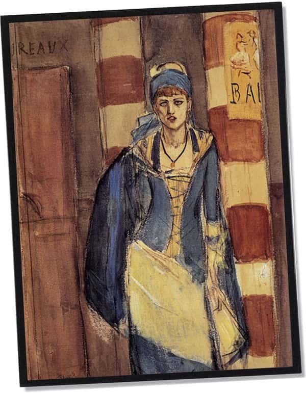 Die Absinthtrinkerin, Félicien Rops (1877)