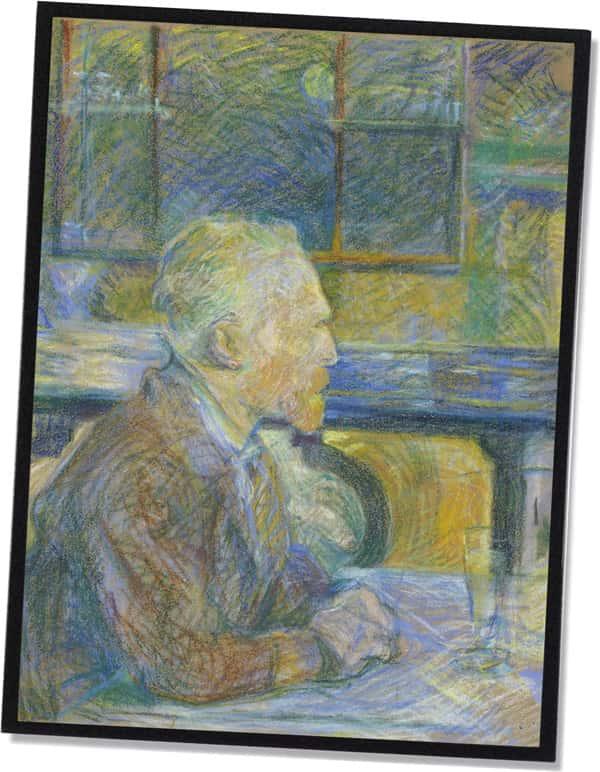Porträt von Vincent van Gogh, Henri de Toulouse-Lautrec (1887)
