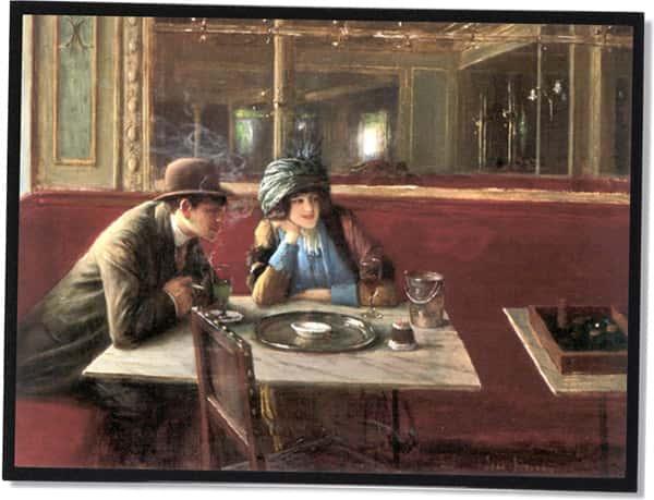 Au Café, Jean Béraud (Um 1910)