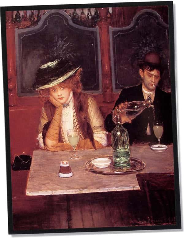 Le Buveur d'absinthe, Jean Béraud (1908)