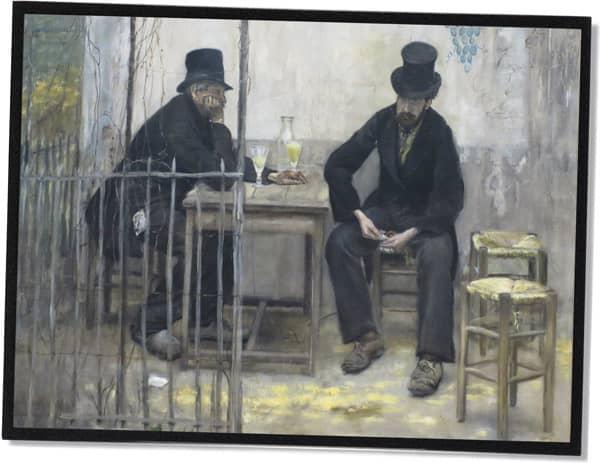 Die Absinthtrinker, Jean-François Raffaëlli (1881)