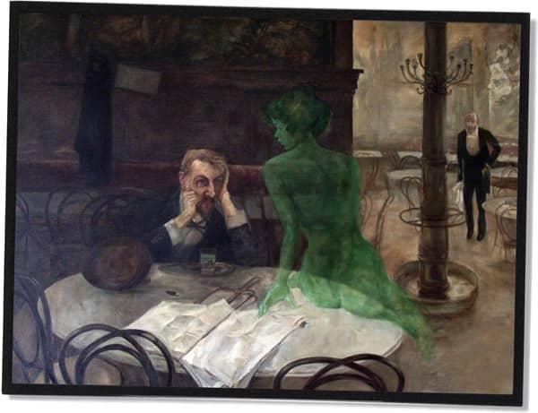 Piják absintu (The Absinthe Drinker), Viktor Oliva, 1901