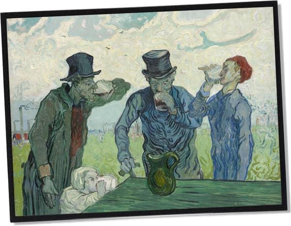 Die Trinker, Vincent Van Gogh (1890)